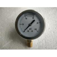 "Buy cheap 2""( 50mm ) Stainlee Steel Bottom Entry Liquid Filled Pressure Gauge Filled With Glycerin product"