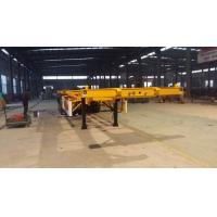 Buy cheap 20ft  / 40ft skeleton container transport chassis semi trailer 2 / 3 axle Truck trailer from wholesalers