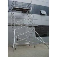 Buy cheap Cold Pressed Ladder Frame Scaffolding with adjustable extension EN1004 2004 from wholesalers