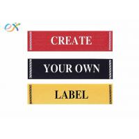 Buy cheap Clothing Fabric Material Damask Custom Ribbons For Name Badges Standard Size product