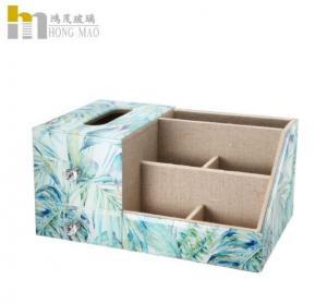 Classic Creative Desk Organizer Box Combined With Tissue Box Multiple Function