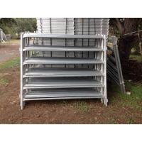 Buy cheap 1.6m / 1.8m×2.1m Galvanized Corral Fence Panels 6 Rails Round Tube 32mm OD product