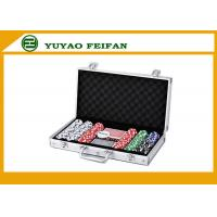 6 Colors Professional Poker Chips Sets For Casino 300 Pcs Round Corner Manufactures