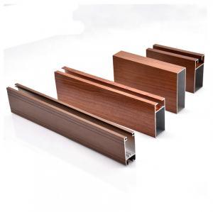 Buy cheap Powder Coating Wood Grain Aluminium Profile Square Tube For Furniture Decoration product