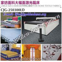 Buy quality CNC Laser Cutter Sofa Fabric With Conveyor Table at wholesale prices