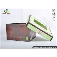 Buy cheap Brown Foldable Cardboard Gift Boxes With Lids Matt Varnish Surface Finishing product