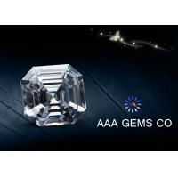 Colorless Asscher Cutting Shape lab created moissanite 4.5 MM Diamone Manufactures