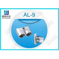 Parallel Double Aluminum Alloy Pipe Fitting Rectangle Oxide Sandblasting Jionts AL-9 Manufactures
