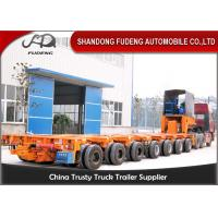 Buy cheap 16 Axles 8 Line Hydraulic Modular Heavy Equipment Trailers Large Generator Transport product