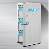 Buy quality Plastic Durable Safety Wall Mounted Key Box With Blue Tags 306*314*58mm at wholesale prices