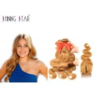 Buy cheap Body Wave Blonde Malaysian Hair Bundles For Black Woman Color 27 No Bad Smell product