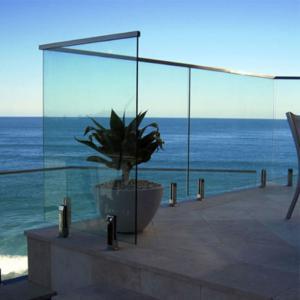 Buy cheap Professional design balcony framless stainless steel spigot design tempered glass railing product