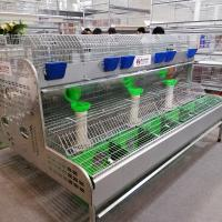 Buy cheap galvanized sheet automatic maure cleaning rabbit cage for large rabbit farms product
