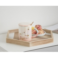 Buy cheap 330CC Wide Mouth 15cm Personalised Ceramic Mugs product