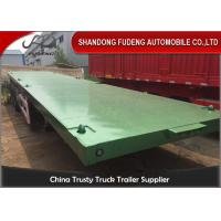 Buy cheap 40ft 20ft 3 Axles Flatbed Container Trailer , Container Semi Trailer 60-70Tons product