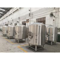 Buy cheap Stainless Steel Jacketed Beer Brewing Tank , Hotel Beer Serving Tank product
