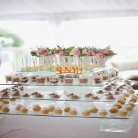 Buy cheap Dessert Food Service TraysStack More Tiers Glass Plexiglass Display Shelves product