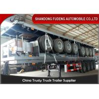 Buy cheap 40 Foot High Bed Semi Trailer With 4 Axles For Carry Container , Cement Bags With Warranty product