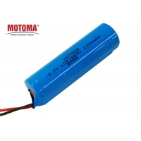 Buy cheap MOTOMA LCR18650 Lithium Cylindrical Battery 3.7V 2200mah Lithium Ion Battery product