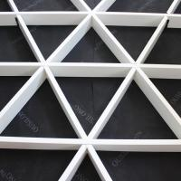 Buy quality Roller Coating Indoor Aluminum Triangle Grid Metal Ceiling Panel For Shopping Hall at wholesale prices