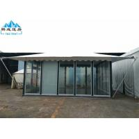 Buy cheap 5x6M White PVC Roof Hotel Marquee Party Tent With Glass Wall And Door product