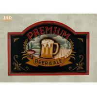 Buy cheap Custom Wooden Wall Signs Antique Wood Pub Sign Resin Beer Wall Decor Green Color product