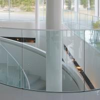 Buy cheap Arched Tempered Glass Curved Glass Balustrade Aluminum Railing product
