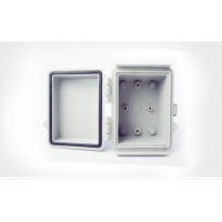 Buy cheap Watertight Hinged Plastic Enclosures Abrasion Resistant Light Gray Finish product