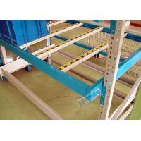 Powder Coating Carton Pallet Flow Rack Aluminum Alloy Flow Rails With Plastic Rollers