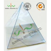 Buy cheap Handmade Custom Gift / Craft Clear Packaging Boxes Triangle Glossy Lamination product