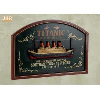 Buy cheap Memorial Titanic Wall Decor Wooden Wall Plaques Resin Cruise Ship Antique Wood Pub Sign product