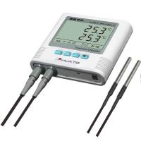 Dual Temperature Humidity Data Logger With Alarm Function High Accuracy