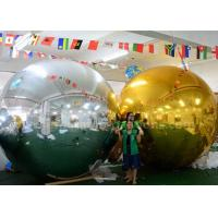 3m Inflatable Advertising Balloons Christmas Mirror Ball Silver / Gold Color Manufactures