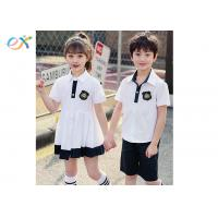 Buy cheap Cool Custom School Uniforms / Summer School Uniform White Dress And Polo Shorts product
