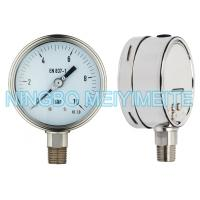 Buy cheap Oil Fillable SS Pressure Gauge Instrument With Tempered Glass / Safety Glass product