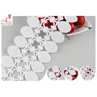 China Dubai Water Soluble Embroidered Guipure Lace Trims With Flat Pom Pom Lace Design on sale