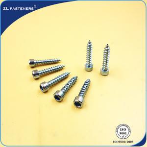 Buy cheap Allen Hex Socket Cap Head High Tensile Screws White Zinc Color M3~M12 product