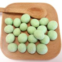 Healthy Low Fat Roasted Coated Wasabi Peanuts Coconut Flavor Without Pigment OEM for sale