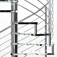 Buy cheap Small Space House Used Stainless Steel Glass Spiral Staircase with 12mm Glass Railing product