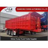 Buy cheap 3 Axles 30 Tons 25-30 Cubic Meters Transport Stone Tiiper Semi Trailer Selling from wholesalers