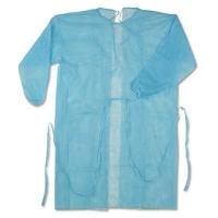 Buy cheap 16 - 40gsm Hospital Disposable Surgical Gown With Easy Adjustable Tightness product
