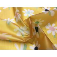 Little Girls Coats TPU Leather Yellow Color With White Flowers Eco - Friendly