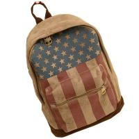 Printed Chamois Leather Backpacks / Travelling Backpacks For Girls In High School