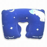 Buy cheap PVC Comfortable Neck Pillow with 100% Polystyrene Beads Filling, Available in Various Colors product