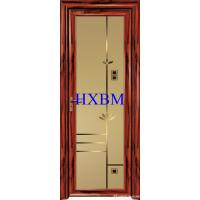 China Single Glazed Frosted Glass Interior Door , Custom Color Modern Interior Doors on sale