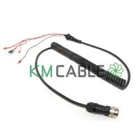 Buy cheap 2 Core X 1.0mm Spiral Cable Assembly Fine Copper Wire PU Outer Jacket from wholesalers