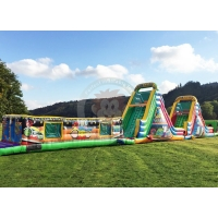 Buy cheap 30m length inflatable obstacle inflatable water obstacle game inflatable from wholesalers