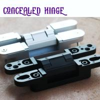 Buy cheap Chrome 180 degree 3D Adjust Concealed Universal door hinges product