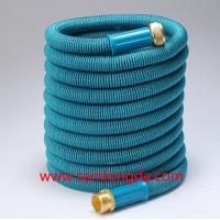 Buy cheap 2017 Expandable Garden hose,50FT Best garden hose with brass quick coupling, green color expanding water hose product