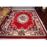 Comfortable Persian Hand Knotted Rugs , Red And Blue Persian Rug Wear Resistant